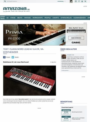 Amazona.de Test: Clavia Nord Lead A1 & A1R, Synthesizer