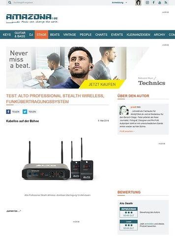 Amazona.de Test: Alto Professional Stealth Wireless, Funkübertragungssystem