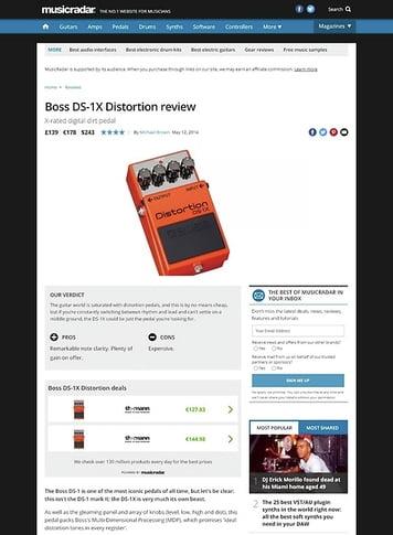 MusicRadar.com Boss DS-1X Distortion