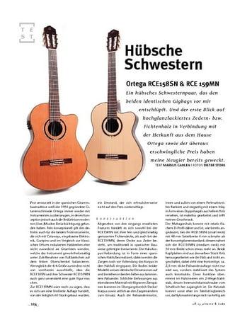 Gitarre & Bass Ortega RCE158SN & RCE 159MN; Nylon-String-Gitarren