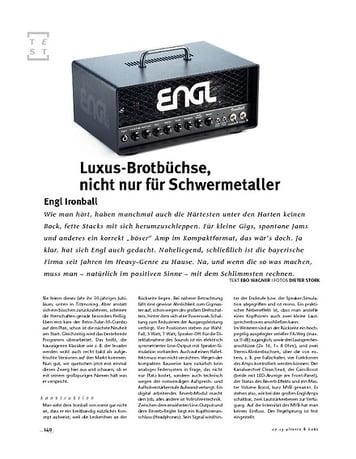 Gitarre & Bass Engl  Ironball, Röhren-Topteil