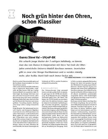 Gitarre & Bass Ibanez Steve Vai UV70P-BK, E-Gitarre