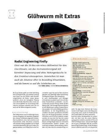 Gitarre & Bass Radial Engineering Firefly, Röhren-D.I.-Box