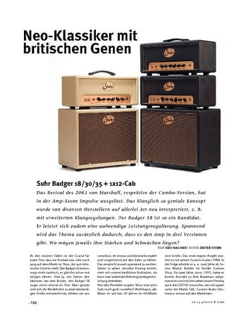 Gitarre & Bass Suhr  Badger 18/30/35 + 1x12-Cab, Röhren-Topteile