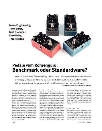 Gitarre & Bass Mesa Engineering Tone-Burst, Grid Slammer, Flux-Drive, Throttle Box, Effekt-Pedale