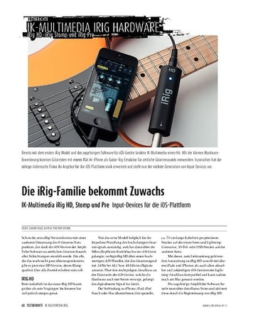 Sound & Recording IK Multimedia iRig HD/Stomp/Pre - Input-Devices für iOS-Geräte