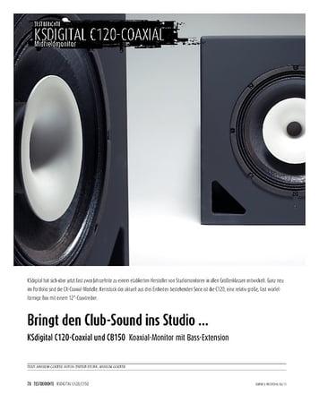 Sound & Recording KSdigital C120-Coaxial und CB150 - Koaxial-Monitor mit Bass-Extension