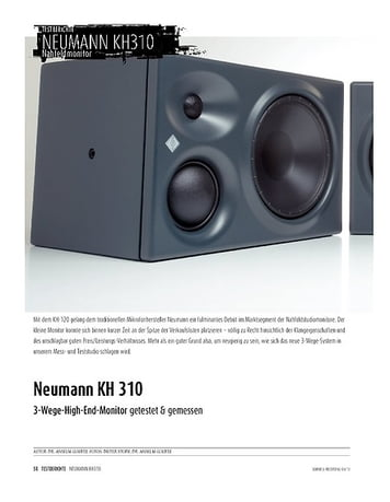 Sound & Recording Neumann KH 310 - 3-Wege-High-End-Monitor