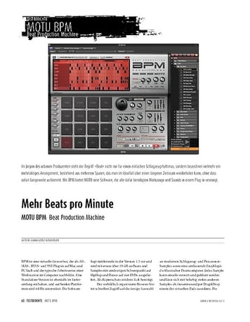 Sound & Recording MOTU BPM - Drumcomputer-Plug-in für Mac & PC