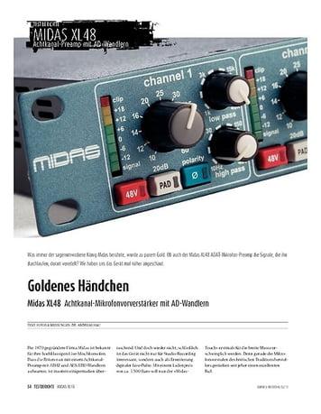 Sound & Recording Midas 48XL - Achtfach-Preamp mit AD-Wandlern