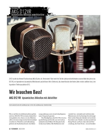 Sound & Recording AKG D12 VR - Dynamisches Mikrofon mit Aktivfilter