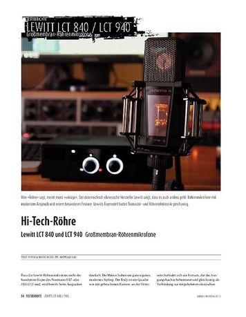 Sound & Recording Lewitt LCT940/840 - Großmembran-Röhrenmikrofone