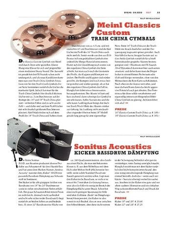 Sticks Sonitus Acoustics Kicker Bassdrum Dämpfung
