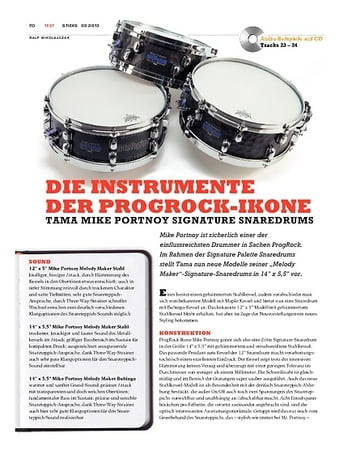 Sticks Tama Mike Portnoy Signature Snaredrums