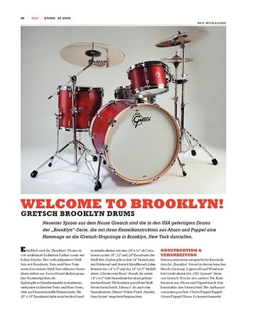 Sticks Gretsch Brooklyn Drums
