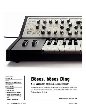 Keyboards Moog Sub Phatty - monofoner Analogsynthesizer