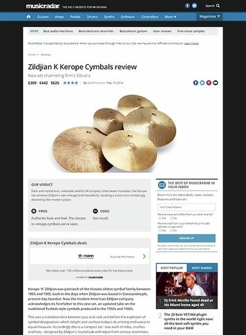 MusicRadar.com Zildjian K Kerope Cymbals
