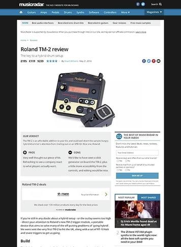 MusicRadar.com Roland TM-2