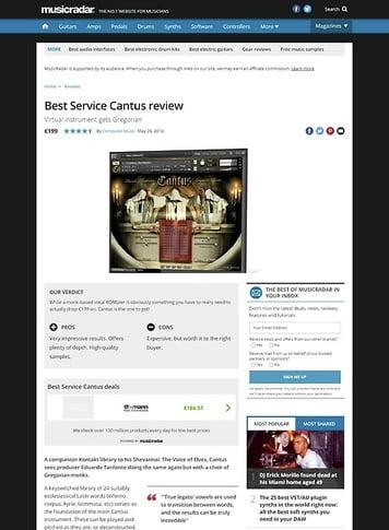 MusicRadar.com Best Service Cantus