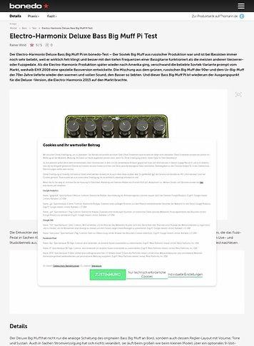 Bonedo.de Electro-Harmonix Deluxe Bass Big Muff Pi