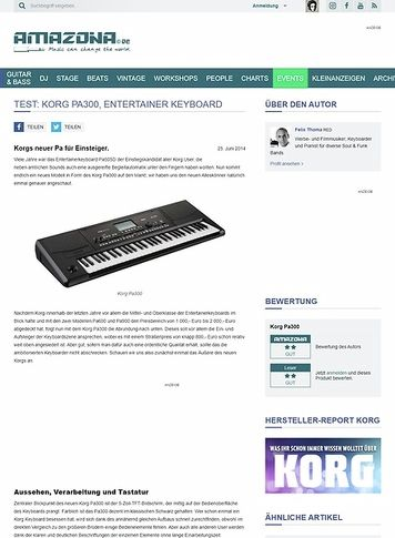 Amazona.de Test: Korg Pa300, Entertainer Keyboard
