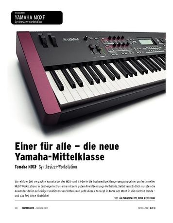 Keyboards Yamaha MOXF - Synthesizer-Workstation