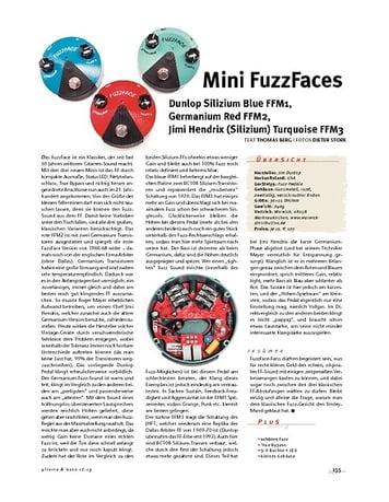 Gitarre & Bass Dunlop FFM 1, 2 & 3, Mini FuzzFaces
