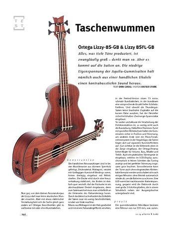 Gitarre & Bass Ortega Lizzy-BS-GB & Lizzy BSFL-GB, Ukulelen-Bässe