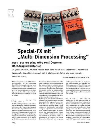 Gitarre & Bass Boss  TE-2 Tera Echo, MO-2 Multi Overtone, DA-2 Adaptive Distortion, FX-PEdale