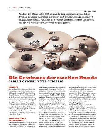 Sticks Sabian Cymbal Vote Cymbals