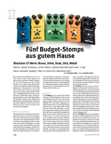 Gitarre & Bass Blackstar LT-Serie: Boost, -Drive, -Dual, -Dist, -Metal, FX-Pedale