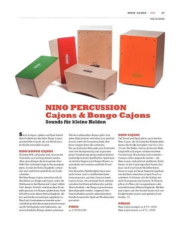 Sticks NINO PERCUSSION Cajons & Bongo Cajons