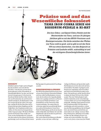 Sticks Tama Iron Cobra Serie 600 Bassdrum-Pedale & Hi-Hat - Feines für die Füße