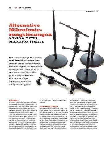 Sticks König & Meyer Mikrofonstative - Alternativen für die coole Optik