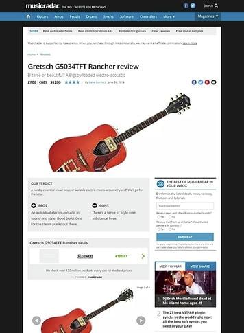 MusicRadar.com Gretsch G5034TFT Rancher