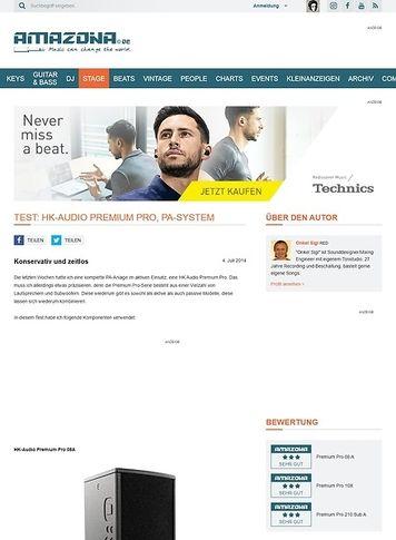 Amazona.de Test: HK-Audio Premium Pro, PA-System