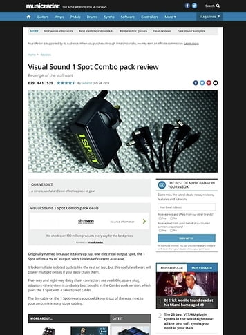 MusicRadar.com Visual Sound 1 Spot Combo pack