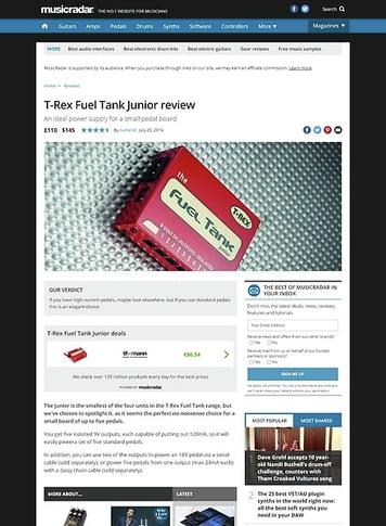 MusicRadar.com T-Rex Fuel Tank Junior