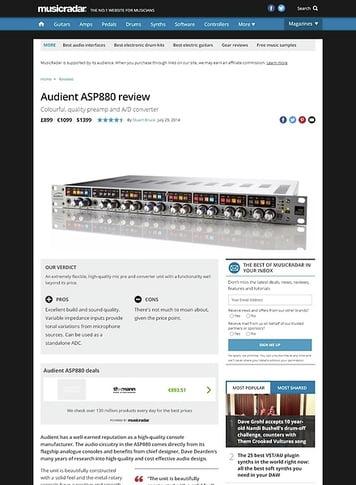 MusicRadar.com Audient ASP880