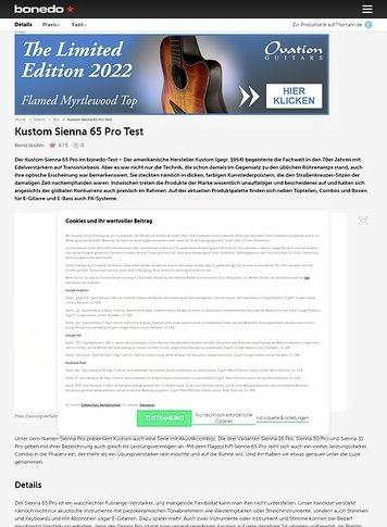 Bonedo.de Kustom Sienna 65 Pro