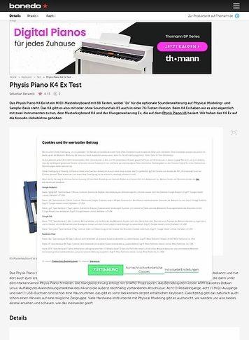 Bonedo.de Physis Piano K4 Ex