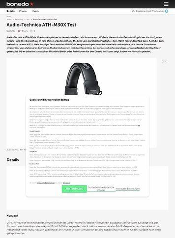 Bonedo.de Audio-Technica ATH-M30 X