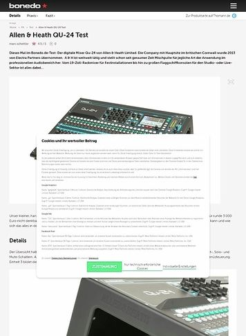 Bonedo.de Allen & Heath QU-24