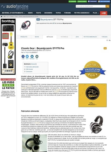 Audiofanzine.com Beyerdynamic DT 770 Pro