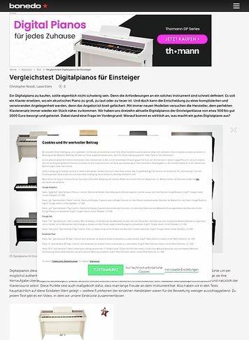 Bonedo.de Testmarathon Digitalpianos für Einsteiger
