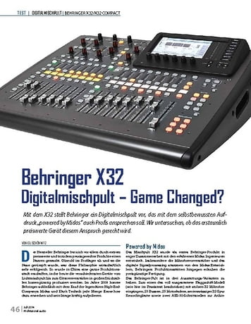 Professional Audio Behringer X32