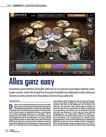 Professional Audio Toontrack EZDrummer 2