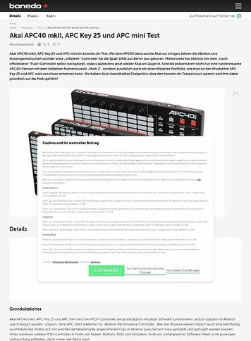 Pro-audio Equipment Akai Professional Apc Mini Kompakter Usb Bus Powered 64 Button Clip Launcher