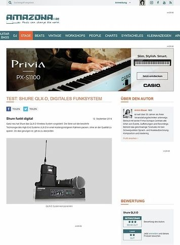 Amazona.de Test: Shure QLX-D, Digitales Funksystem