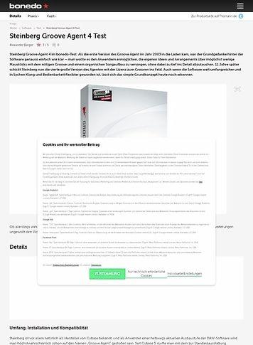 Bonedo.de Steinberg Groove Agent 4